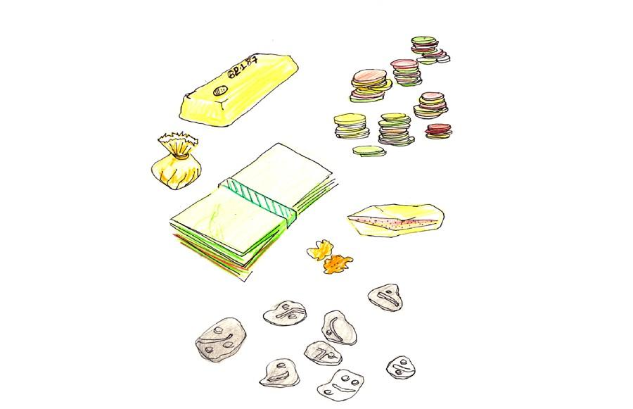 Croquis formes culinaires de l'argent