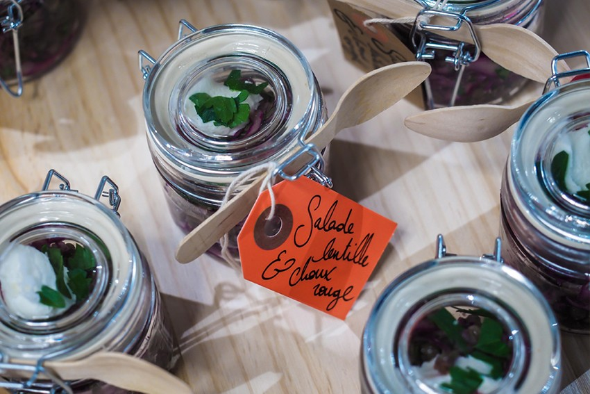 verrines de salades de lentilles
