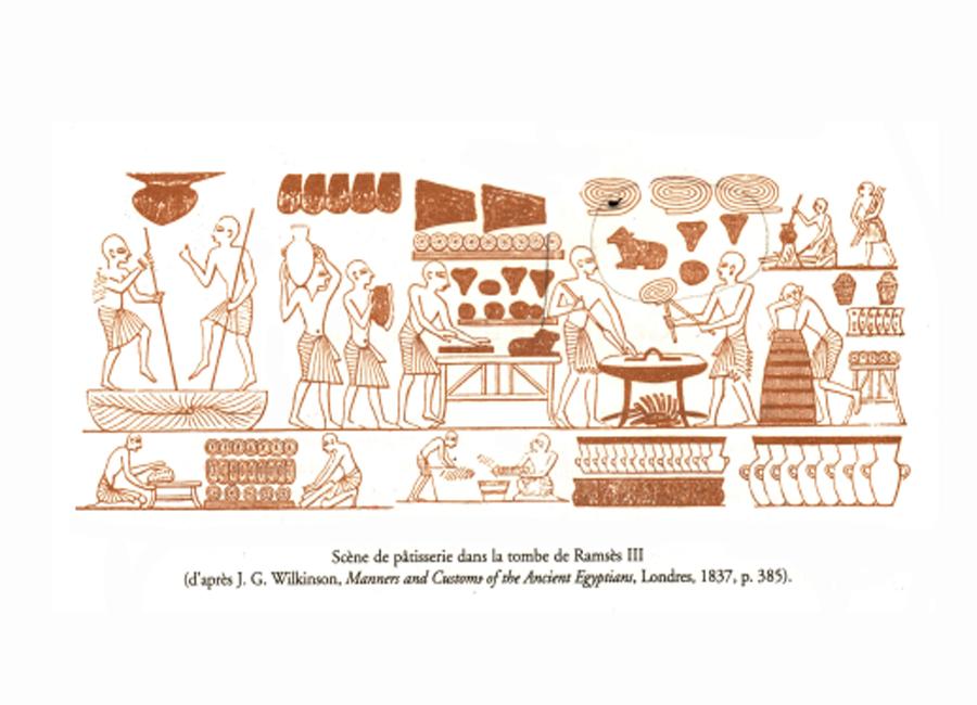 scène de pâtisserie tombeau de ramses 3
