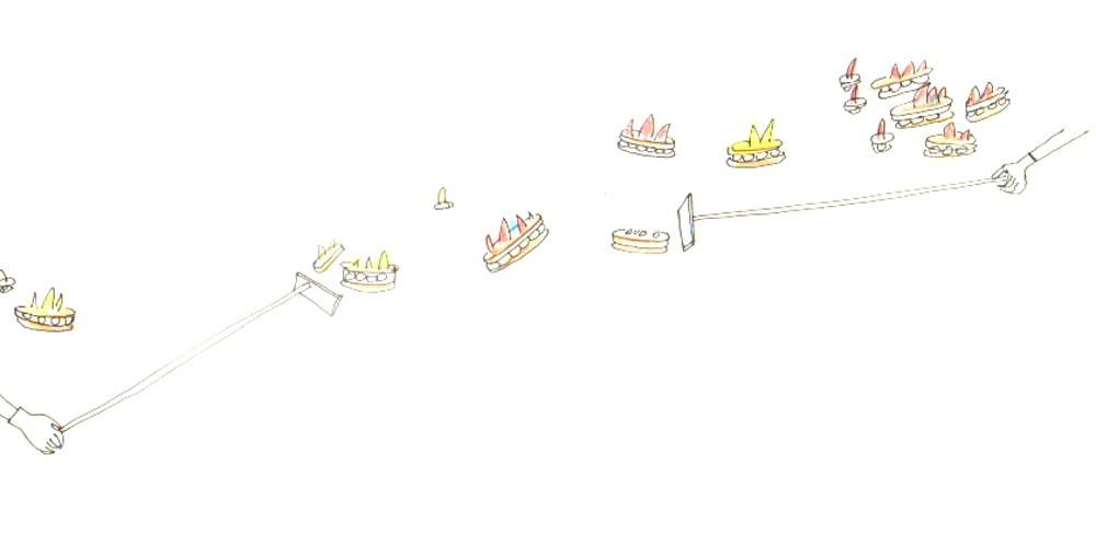 Illustration du dessert. Le Paris-Suez, dessert éclair à la crème d'hibiscus, pâtisserie