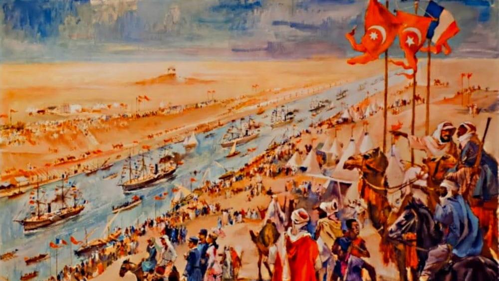 Peinture inauguration du Canal de Suez, Image d'inspiration.