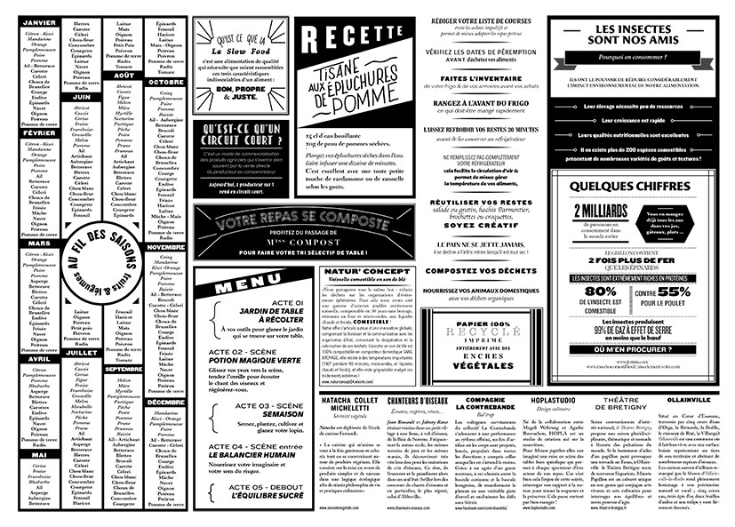 menu journal rustica