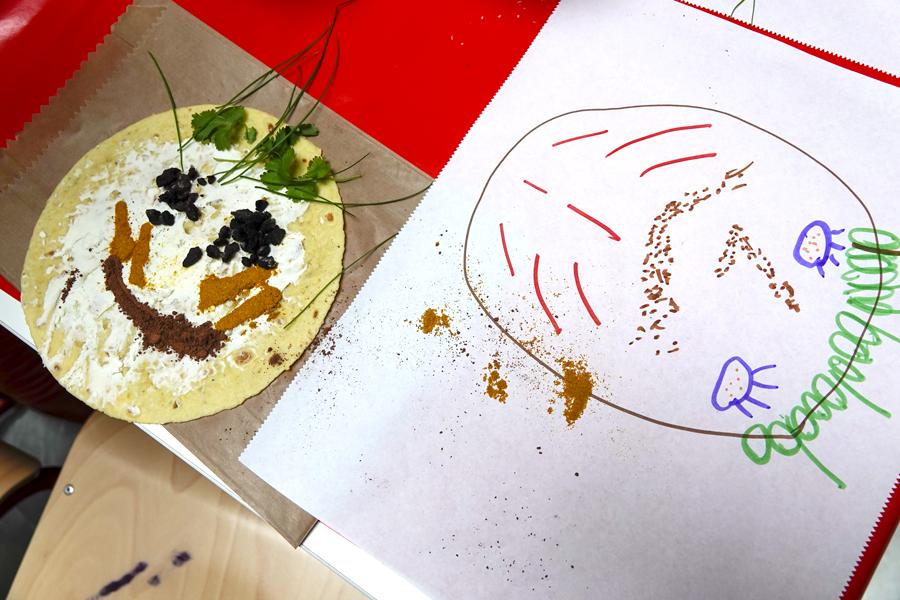 esquisse dessinée et portrait culinaire