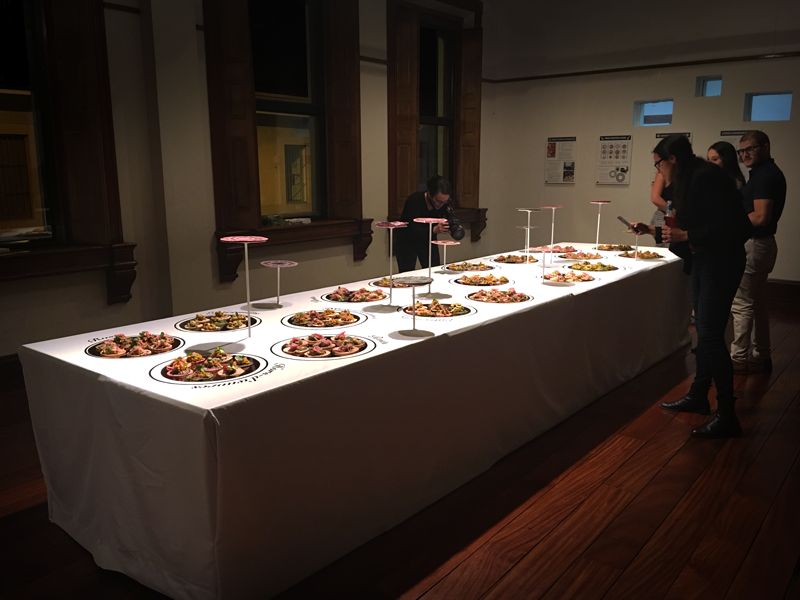 table buffet de tortillas