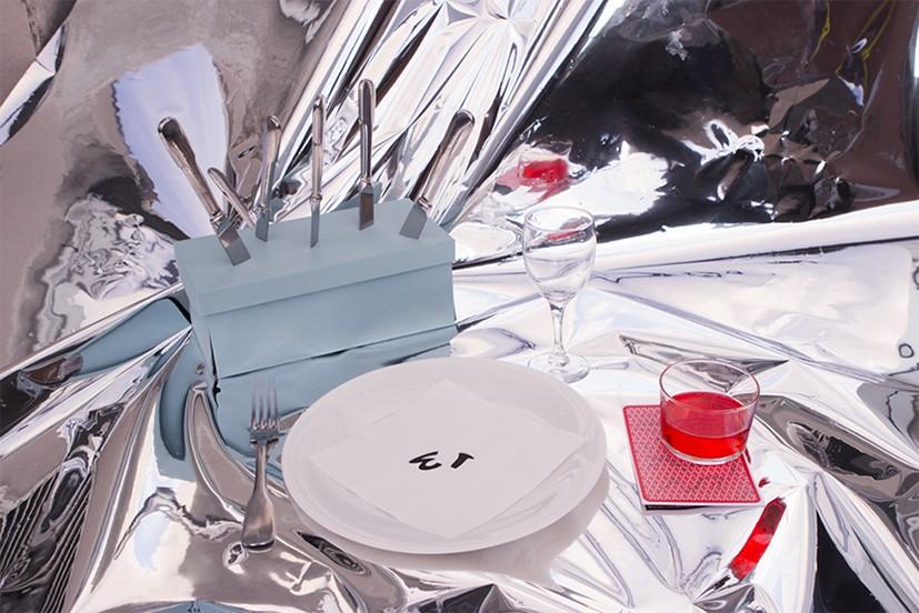 table magique. nappe miroir
